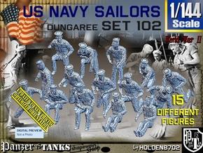 1/144 USN Dungaree Set 102 in Smooth Fine Detail Plastic