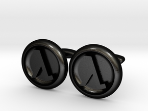 Half-Life Logo Cufflinks in Matte Black Steel