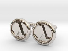 Half-Life Logo Cufflinks in Platinum