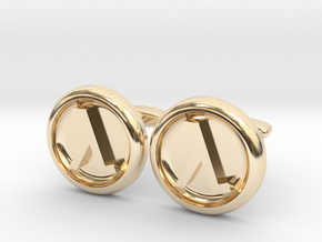 Half-Life Logo Cufflinks in 14k Gold Plated Brass