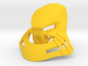 Noble Kanohi Garai in Yellow Strong & Flexible Polished