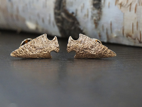 Arrowhead Cufflinks in Natural Bronze