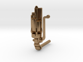 Nathan 6 Chime Whistle in Natural Brass