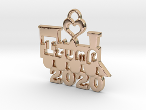 Trump Victory 2020 in 14k Rose Gold Plated Brass