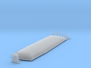 Roof for TogcafeN Triangel in Smooth Fine Detail Plastic