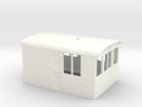 O Scale GE 23 Ton Box Cab Cab in White Processed Versatile Plastic