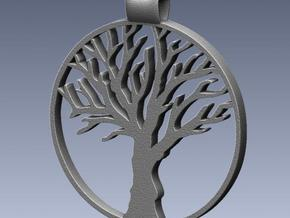 Tree Pendant in White Processed Versatile Plastic