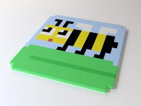 8-bee coaster in Full Color Sandstone