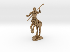 Centaur Warrior  in Natural Brass