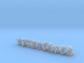 Alien Bug Claw Swarm 10 Models in Smooth Fine Detail Plastic