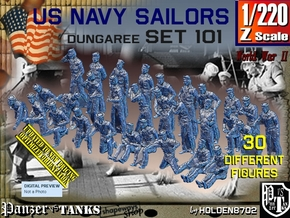 1/220 USN Dungaree Set 101 in Smoothest Fine Detail Plastic