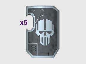 5x IronHeads- Marine Boarding Shields w/Hand in Smooth Fine Detail Plastic