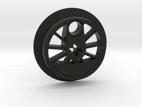 Medium Driver With Tire Groove in Black Natural Versatile Plastic