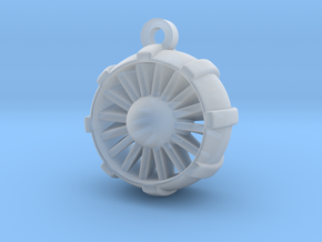 JetEngine Pendant in Smooth Fine Detail Plastic: Small