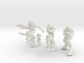 Infantry Rifleman 15mm 28mm in White Natural Versatile Plastic