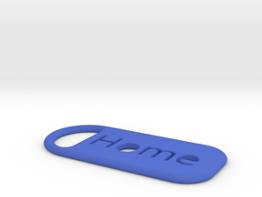 home_keychain in Blue Processed Versatile Plastic