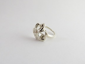 Monera Ring in Polished Silver: 6 / 51.5