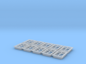 1/87th scale buildabe windows (10 pieces) in Smooth Fine Detail Plastic
