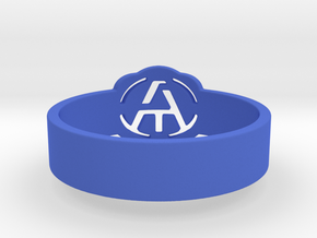 Atheism ring, unique ring, Atheist Jewelry, Atheis in Blue Processed Versatile Plastic