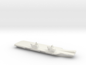 Queen Elizabeth-class aircraft carrier, 1/1250 in White Natural Versatile Plastic