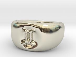 Gemini Ring sz8 in 14k White Gold