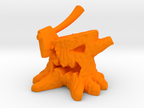 Stump Chump in Orange Processed Versatile Plastic: Medium