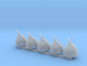 5 x Grenadier Hats in Smooth Fine Detail Plastic