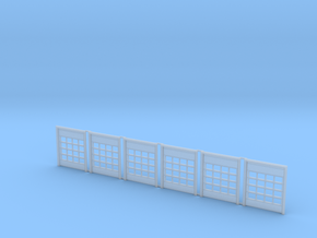 N Scale Fire Station Doors 6pc in Smooth Fine Detail Plastic