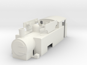 """OO Hudswell Clarke 0-6-0T """"S100"""" - Chasewater in White Natural Versatile Plastic"""