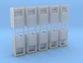 Altkleidercontainer 10er Set 1:76 in Smooth Fine Detail Plastic