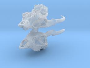 Muntjac Skull Earrings in Smooth Fine Detail Plastic