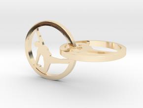 Yoga Jewelry earring 2hoop   in 14k Gold Plated Brass