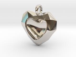Frozen Heart Pendant in Platinum