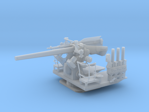 1/48 5 inch 25 (12.7 cm) Deck AA Gun in Smooth Fine Detail Plastic