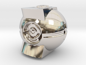 Monument4 in Rhodium Plated Brass: Small