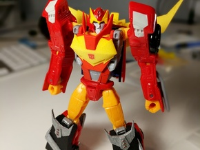 MTMTE Rodimus chest (Part 1 of 2) in Red Processed Versatile Plastic