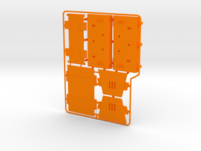 AT-ACT Removeable Cargo Pod Kit in Orange Processed Versatile Plastic