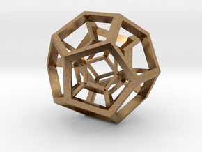 4D Dodecahedron in Natural Brass