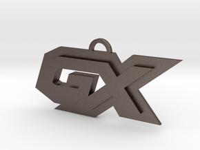 GX symbol in Polished Bronzed Silver Steel