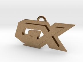 GX symbol in Natural Brass