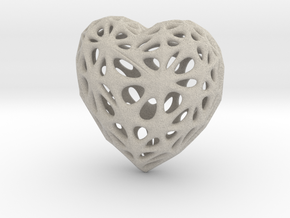 Voronoi Heart (Sandstone) in Natural Sandstone