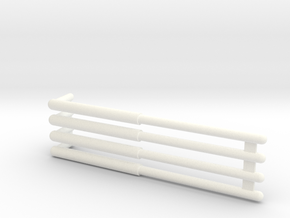 Revell AT-AT replacement leg struts in White Processed Versatile Plastic