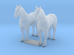 HO Scale Draft Horses in Frosted Ultra Detail