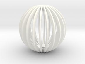 Snowball Small in White Processed Versatile Plastic
