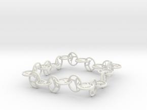 Yoga Jewelry   in White Natural Versatile Plastic