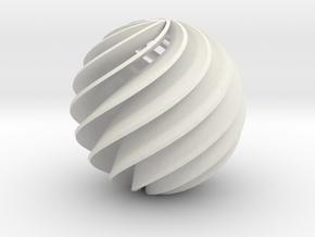 HeliosHelixTurbin-D15-11-blad-T3mm in White Natural Versatile Plastic
