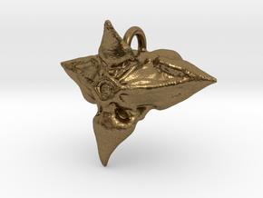 Caltrop Seed Pendant in Natural Bronze