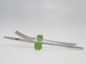 Knife rest & Cutlery rest Four-leaf clover in Green Processed Versatile Plastic