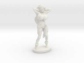 Captain Veronika Red RPG 40mm Mini in White Natural Versatile Plastic