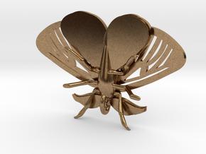 Satin Moth Pendant in Natural Brass